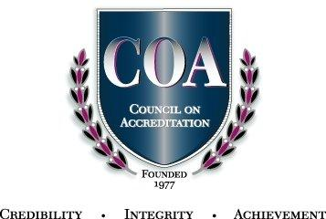 Council on Accreditation logo credibility integrity achievement